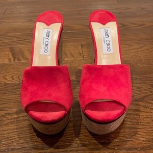 Jimmy Choo red shoes